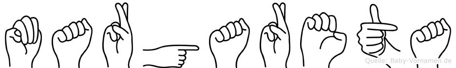 Margareta in Fingersprache für Gehörlose