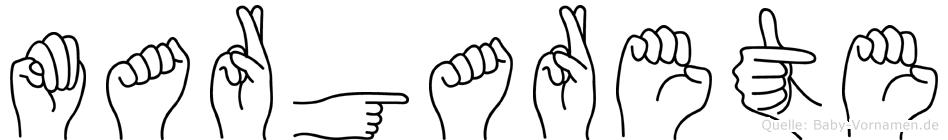 Margarete in Fingersprache für Gehörlose