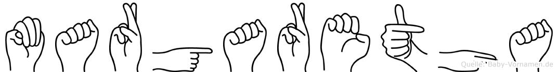 Margaretha in Fingersprache für Gehörlose