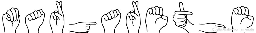 Margarethe in Fingersprache für Gehörlose