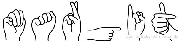 Margit in Fingersprache für Gehörlose