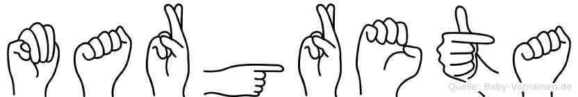 Margreta in Fingersprache für Gehörlose