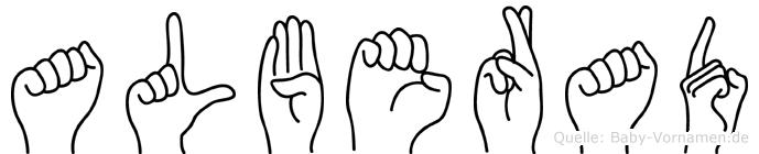 Alberad in Fingersprache für Gehörlose