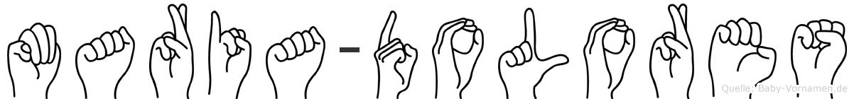Maria-Dolores im Fingeralphabet der Deutschen Gebärdensprache
