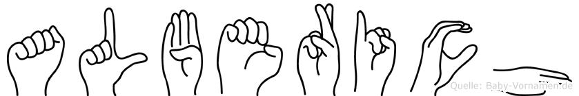 Alberich in Fingersprache für Gehörlose