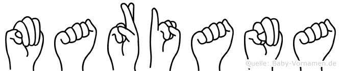 Mariana in Fingersprache für Gehörlose