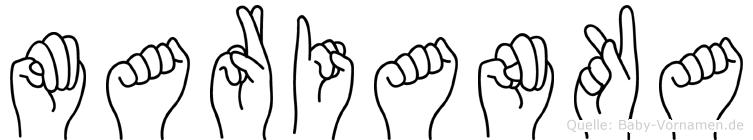Marianka in Fingersprache für Gehörlose