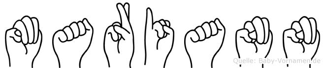 Mariann in Fingersprache für Gehörlose