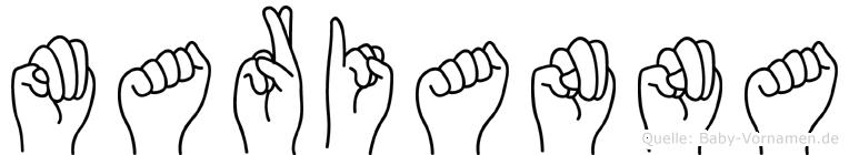 Marianna in Fingersprache für Gehörlose