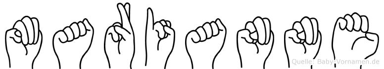 Marianne in Fingersprache für Gehörlose