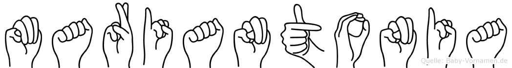 Mariantonia in Fingersprache für Gehörlose