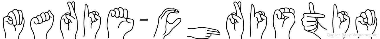 Marie-Christin im Fingeralphabet der Deutschen Gebärdensprache
