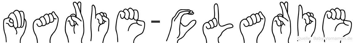 Marie-Clarie im Fingeralphabet der Deutschen Gebärdensprache
