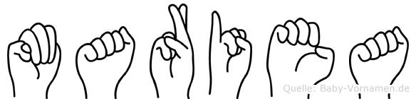 Mariea in Fingersprache für Gehörlose