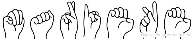 Marieke im Fingeralphabet der Deutschen Gebärdensprache
