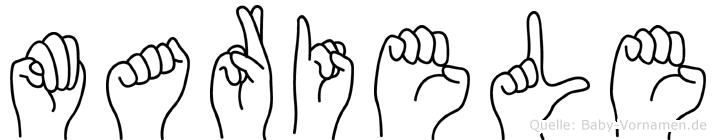 Mariele im Fingeralphabet der Deutschen Gebärdensprache