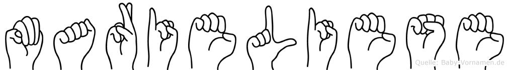 Marieliese in Fingersprache für Gehörlose
