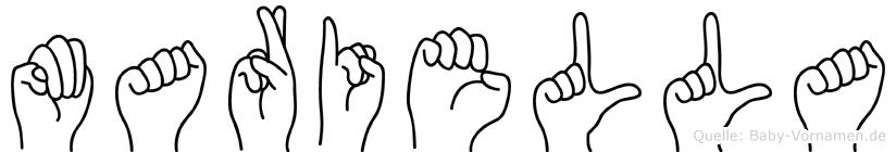 Mariella in Fingersprache für Gehörlose