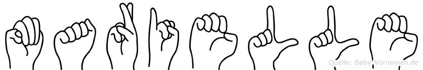 Marielle im Fingeralphabet der Deutschen Gebärdensprache
