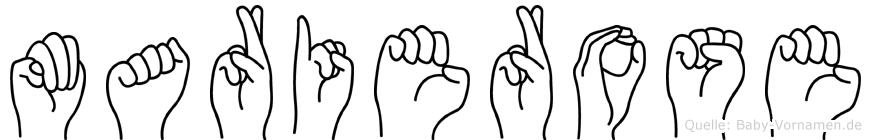 Marierose in Fingersprache für Gehörlose