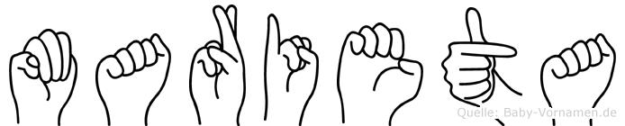 Marieta in Fingersprache für Gehörlose