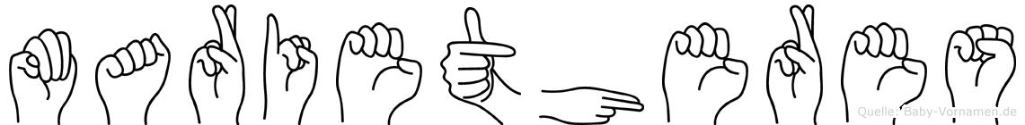 Marietheres im Fingeralphabet der Deutschen Gebärdensprache