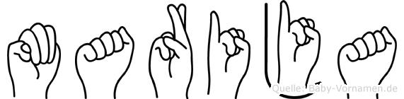 Marija in Fingersprache für Gehörlose