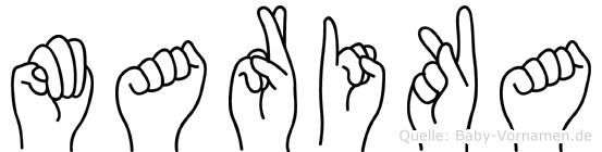 Marika in Fingersprache für Gehörlose