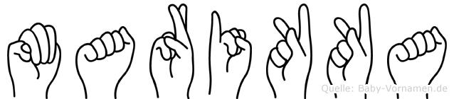 Marikka im Fingeralphabet der Deutschen Gebärdensprache