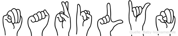 Marilyn in Fingersprache für Gehörlose