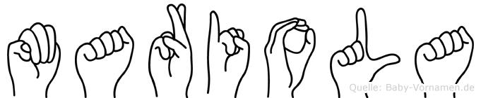 Mariola in Fingersprache für Gehörlose