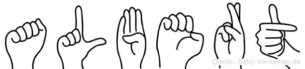 Albert in Fingersprache für Gehörlose