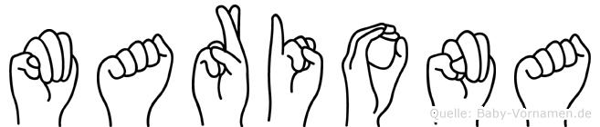Mariona in Fingersprache für Gehörlose