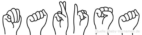 Marisa in Fingersprache für Gehörlose