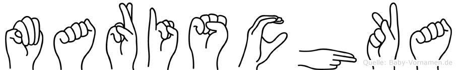 Marischka im Fingeralphabet der Deutschen Gebärdensprache