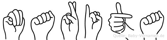 Marita in Fingersprache für Gehörlose