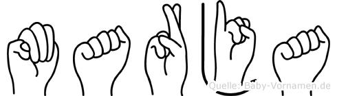 Marja in Fingersprache für Gehörlose