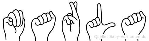 Marla im Fingeralphabet der Deutschen Gebärdensprache
