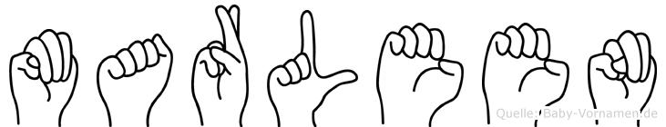 Marleen in Fingersprache für Gehörlose