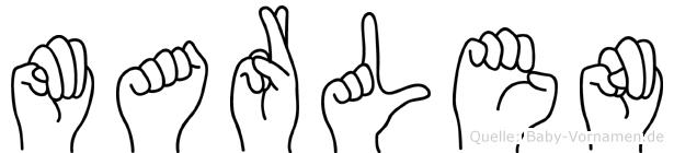 Marlen in Fingersprache für Gehörlose