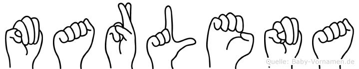 Marlena in Fingersprache für Gehörlose