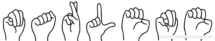 Marlene in Fingersprache für Gehörlose