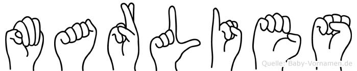 Marlies in Fingersprache für Gehörlose
