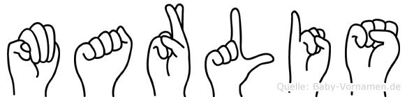 Marlis im Fingeralphabet der Deutschen Gebärdensprache