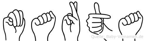Marta in Fingersprache für Gehörlose