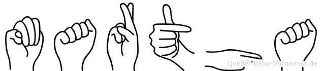 Martha in Fingersprache für Gehörlose