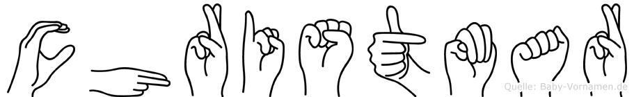 Christmar im Fingeralphabet der Deutschen Gebärdensprache