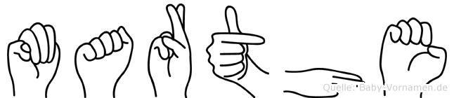 Marthe in Fingersprache für Gehörlose