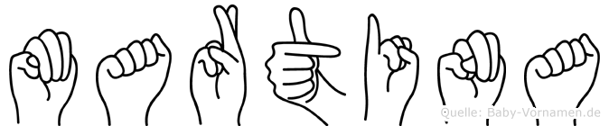 Martina in Fingersprache für Gehörlose