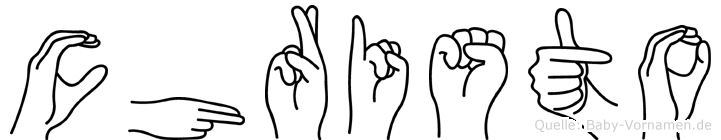 Christo im Fingeralphabet der Deutschen Gebärdensprache